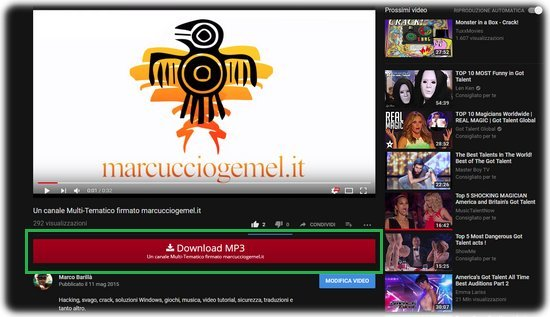 Scaricare MP3 su YouTube